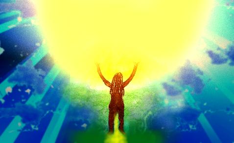 Mensch und Licht